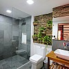 Slate bathroom with natural touch